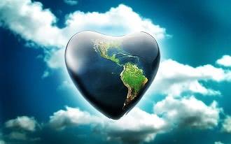 земля в виде сердца